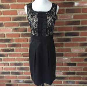 Little Black Dress with lace Sz 8